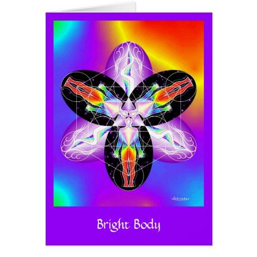 Cuerpo brillante tarjeta de felicitación