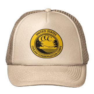 Cuerpo civil CCC de la protección conmemorativo Gorros Bordados