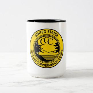 Cuerpo civil CCC de la protección conmemorativo Taza De Café