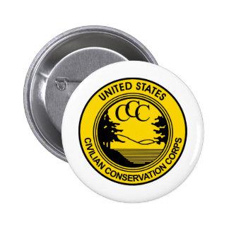 Cuerpo civil de la protección del CCC conmemorativ Pin Redondo De 2 Pulgadas