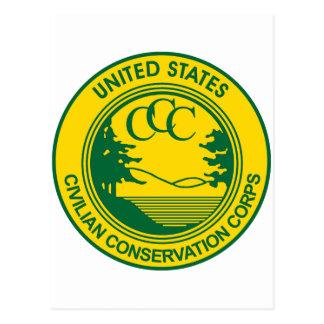 Cuerpo civil de la protección del CCC conmemorativ Postal