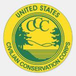 Cuerpo civil de la protección del CCC Pegatina Redonda