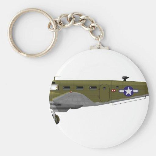 Cuerpo de aire del ejército de la haya C-45 Expedi Llavero Personalizado