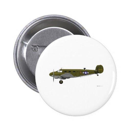 Cuerpo de aire del ejército de la haya C-45 Expedi Pin Redondo 5 Cm