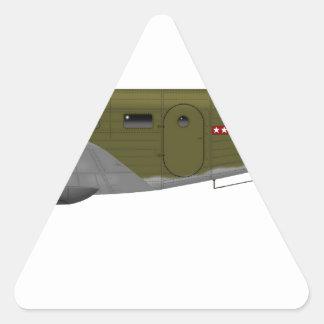 Cuerpo de aire del ejército de la haya C-45 Pegatina Triangular