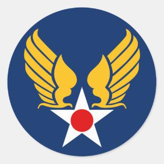 Cuerpo de aire del ejército pegatina redonda