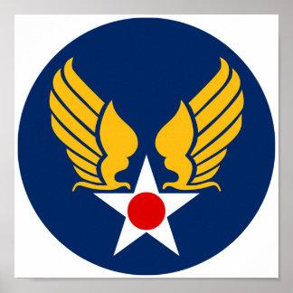 Cuerpo de aire del ejército póster