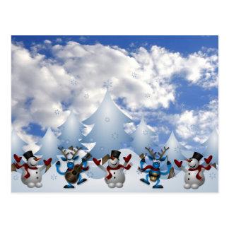 Cuerpo de baile del navidad tarjetas postales