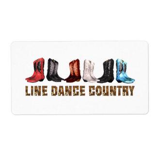 Cuerpo de baile del país de la CAMISETA Etiqueta De Envío