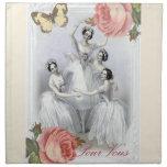 Cuerpo de ballet servilletas imprimidas