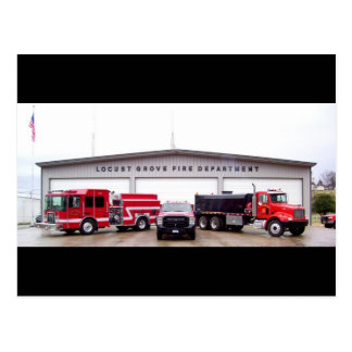 Cuerpo de bomberos de la arboleda de la langosta - tarjetas postales