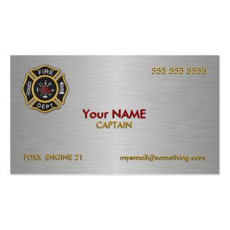 Cuerpo de bomberos de lujo plantillas de tarjetas personales