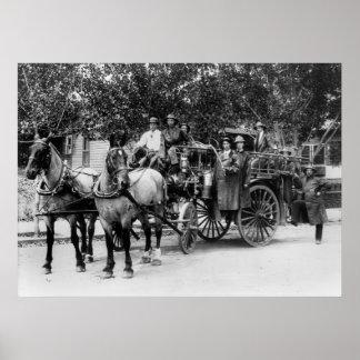 Cuerpo de bomberos de Wenatchee, 1911 Póster