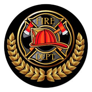 """Cuerpo de bomberos invitación 5.25"""" x 5.25"""""""