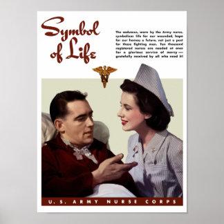 Cuerpo de enfermera del ejército -- Segunda Guerra Poster
