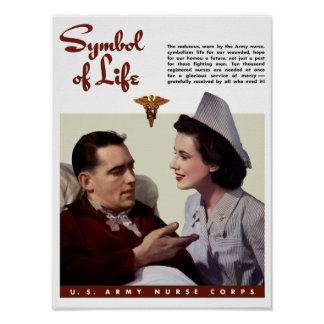 Cuerpo de enfermera del ejército -- Segunda Guerra Póster