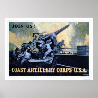 Cuerpo de la artillería de la costa (US02042) Póster