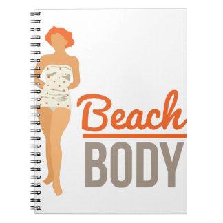 Cuerpo de la playa cuadernos
