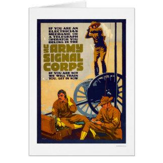 Cuerpo de la señal del ejército tarjeta de felicitación