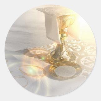 Cuerpo de los pegatinas de Cristo Etiqueta Redonda
