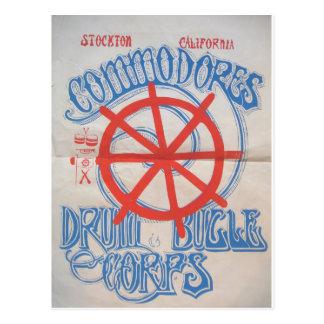 Cuerpo de tambor y de bugle de los comodoros de postal
