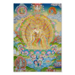 Cuerpo del arco iris de Padmasambhava Póster