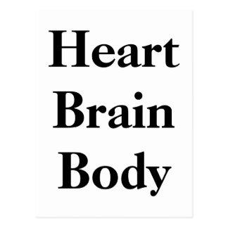 Cuerpo del cerebro del corazón postales