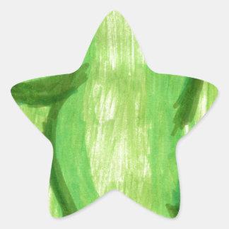 Cuerpo del conejito calcomanías forma de estrella personalizadas