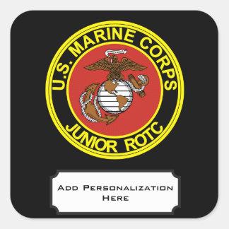 Cuerpo del entrenamiento de oficiales de reserva pegatina cuadrada