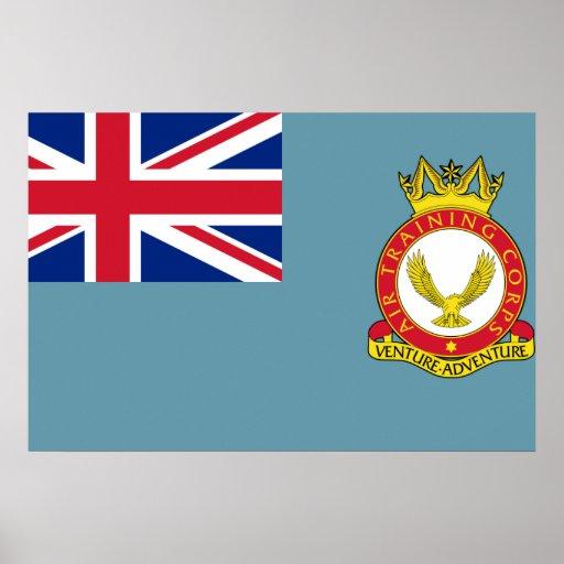 Cuerpo del entrenamiento del aire, bandera de Rein Poster