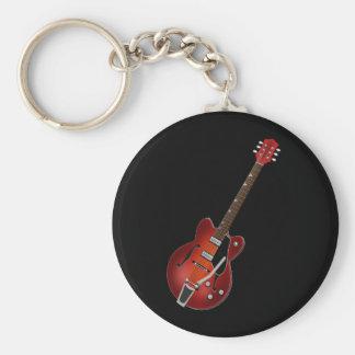 Cuerpo del hueco del resplandor solar de la guitar llavero redondo tipo pin