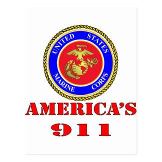 Cuerpo del Marines América 911 del USMC Estados Tarjeta Postal