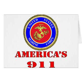 Cuerpo del Marines América 911 del USMC Estados Un Tarjeta De Felicitación