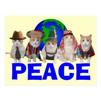 Cuerpo diplomático felino postal