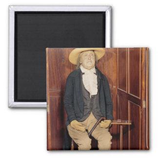Cuerpo embalsamado de Jeremy Bentham Imán Cuadrado