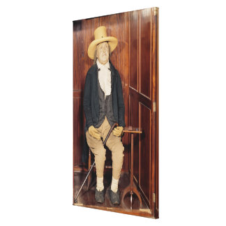 Cuerpo embalsamado de Jeremy Bentham Impresión En Lona Estirada