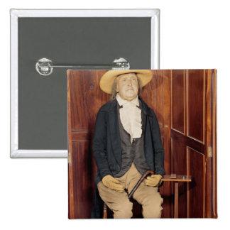 Cuerpo embalsamado de Jeremy Bentham Pin Cuadrado
