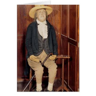 Cuerpo embalsamado de Jeremy Bentham Tarjeta De Felicitación