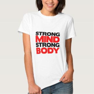 Cuerpo fuerte de la mente fuerte poleras