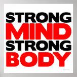 Cuerpo fuerte de la mente fuerte poster