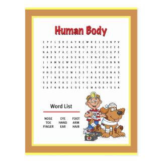 Cuerpo humano tarjeta postal