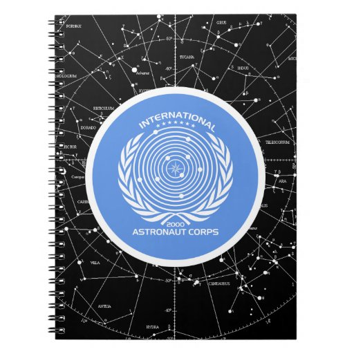 Cuerpo internacional del astronauta libretas