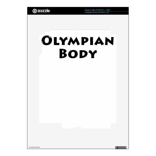 Cuerpo olímpico iPad 2 skins