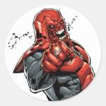 Cuerpo rojo de la linterna - rabia que inclina 2 pegatinas