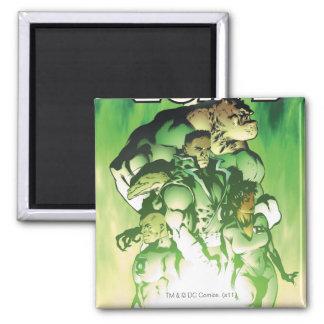 Cuerpo verde de la linterna imán cuadrado