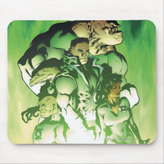 Cuerpo verde de la linterna mouse pads