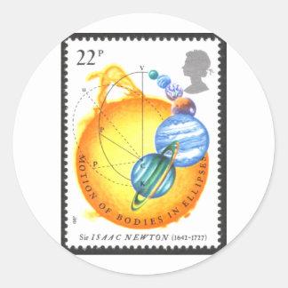 Cuerpos del movimiento de Newton en elipses Etiqueta Redonda
