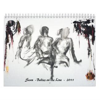 Cuerpos en la línea - 2011 - Sean Calendarios De Pared