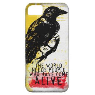 cuervo alterado del arte iPhone 5 fundas