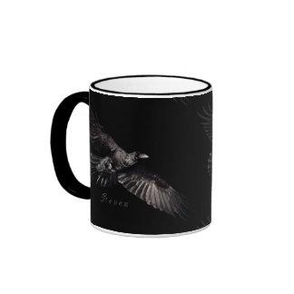 Cuervo-Amante del pájaro de la fauna del cuervo de Tazas De Café